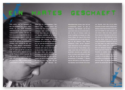 »Jugendzeitschrift »JØRG«, Editorialdesign